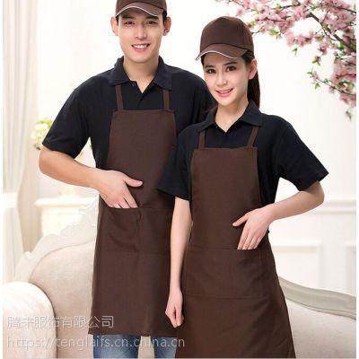 白云区人和镇工作围裙厨房服务员防水围腰定制,免费印字Logo