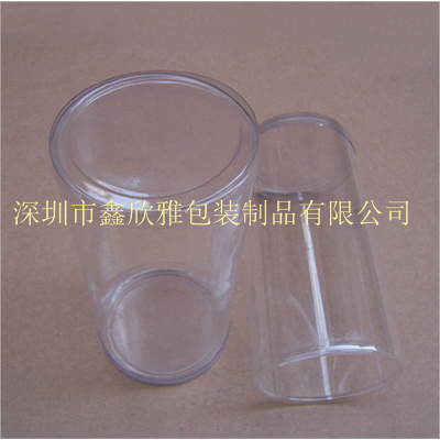 LOGO定制 PVC透明服饰包装圆罐 优质透明环保圆筒