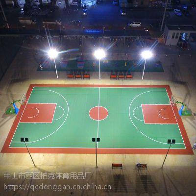 室外照明灯杆 肇庆篮球场8米镀锌灯杆厂家直销 篮球场led灯具价格