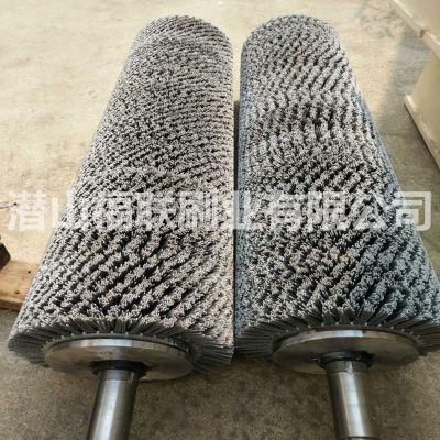福联刷业定做大理石板抛光毛刷辊-花岗岩大理石抛光磨料丝毛刷辊