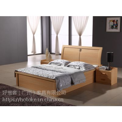好堂客厂家直订简约现代板式床定制加工