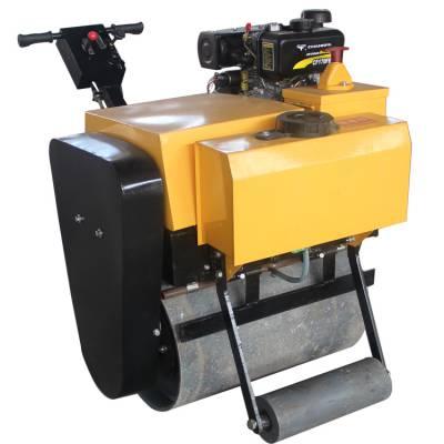 无缝钢轮单钢轮压土机 手扶沥青振动压实机