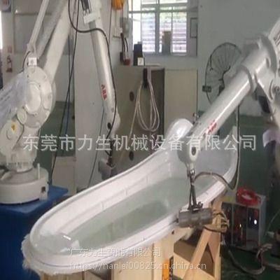 厚片吸塑修边切边切孔 浴缸切割机械手 ABB浴缸切割机器人
