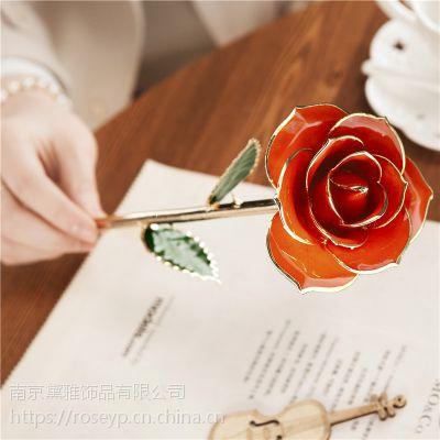 厂家直销黛雅镀金玫瑰花 时尚创意手工制作节日礼物