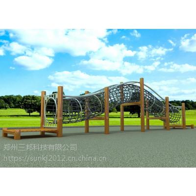 郑州水上乐园设备|户外儿童爬网|实景攀岩墙