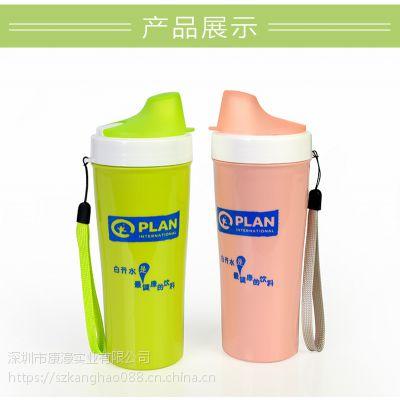 食品级PP塑料硅胶密封防漏运动便携水壶