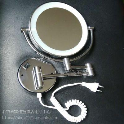 北京佳悦鑫挂墙LED圆形灯镜,圆形化妆镜,LED美容镜,不锈钢+铜