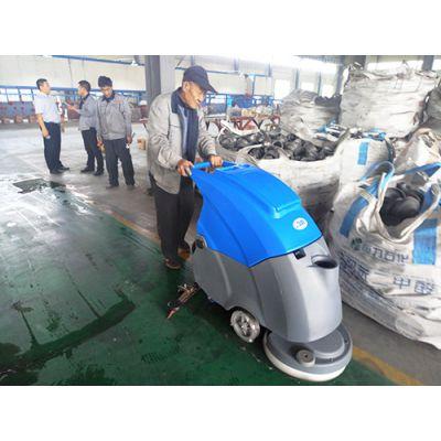 泰安工厂手推式电瓶洗地机,莱芜电瓶式自动洗地机多少钱