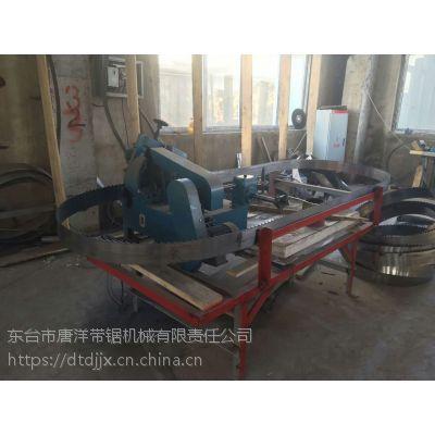 江苏东巨供应实木家具厂加工设备全自动带锯机 智能遥控数显进尺木工跑车