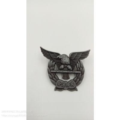 金属 3D立体镂空电镀烤漆滴胶企业徽章定制