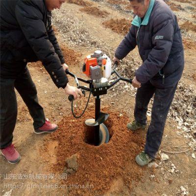 大型螺旋钻坑机图片 拖拉机后带挖坑机