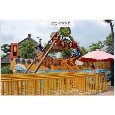 金博新款儿童游乐场游乐设施复古海盗船广东生产厂家哪家质量好