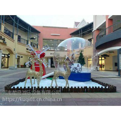 圣诞节充气雪花球大型透明圣诞老人水晶球广告展览