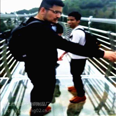 耀恒 专业生产玻璃栈道栏杆立柱 不锈钢玻璃楼梯护栏DA9-E8