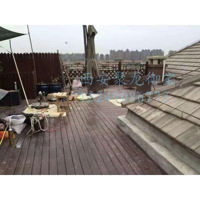 西安防腐木地板尺寸价格、户外木地板规格报价、露天地板效果图、园林景观地板施工