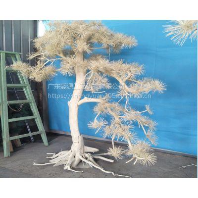仿真松树 白色迎客松假树 白色仿真树