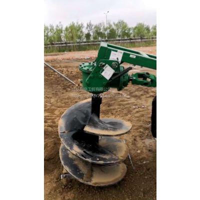 四轮拖拉机挖坑机 定制钻眼机图片 视频