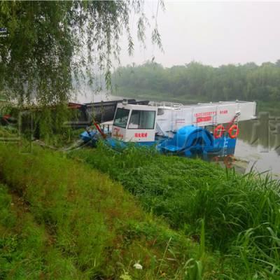 泰州打捞水草船 收集水葫芦破碎机械