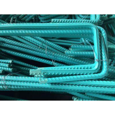 供应山西晋城 环氧涂层 防腐蚀螺纹钢 环氧树脂涂层HRB400钢筋