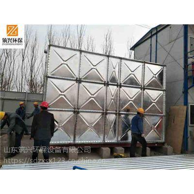 山东镀锌钢板水箱 组装式方形镀锌水箱