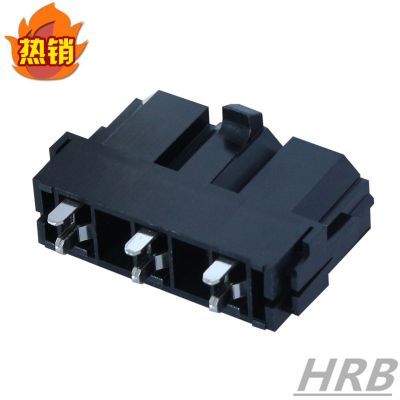 HRB厂家10.0间距大电流连接器_直插式线对板针座