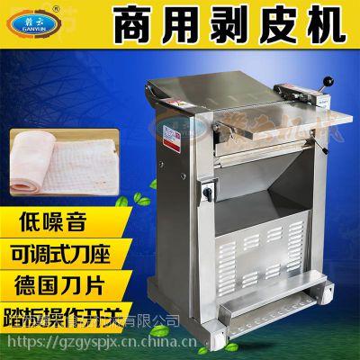 供应猪肉扒皮机全不锈钢猪肉去皮机滚筒式猪肉剥皮机去筋膜机