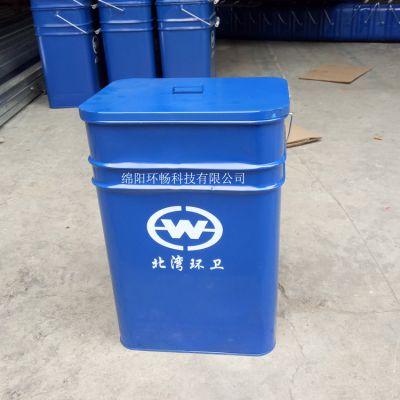 镀锌板小垃圾桶 家用果皮箱 室内垃圾桶 入户垃圾桶