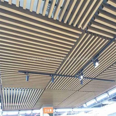 特色型材铝方通幕墙产品,室内吊顶型材铝格栅天花价格