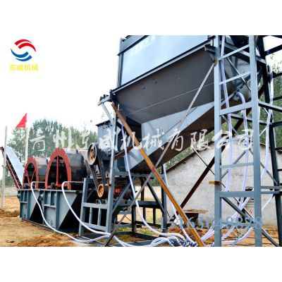 宜昌处理量150方以上的大型洗沙机生产线(东威)3624轮式洗沙机报价