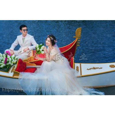 供应竹泓欧式木船2-4人 情侣手划船 景观装饰船 贡多拉游船 小木头船价格***低