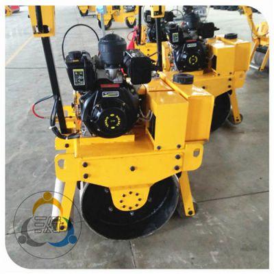 修路补路用手扶振动压路机 重量小压实好 三人行小型压路机故障少