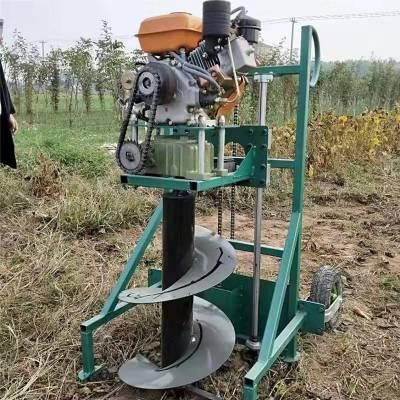 大马力汽油挖坑机 启航牌拖拉机汽油挖坑机 大棚埋桩钻窝机