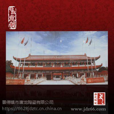 供应大型厂家宣传效果好的方式景德镇彩绘壁画加图加企业标志