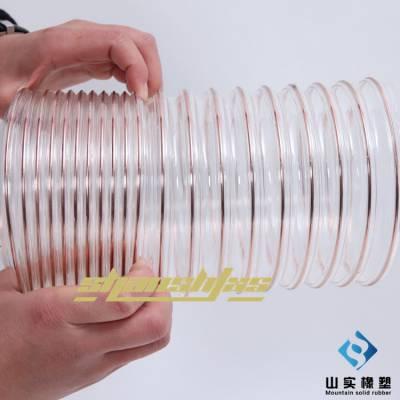 供应PU吸尘管 木工吸尘管125MM pu管 木工钢丝管山实