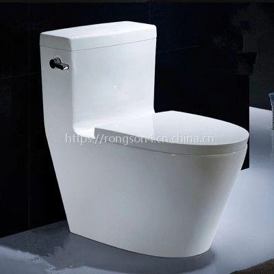 卫浴正品陶瓷虹吸式厂家直销静音地排工程款连体马桶