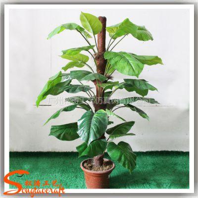 广州仿真手感绿航绿萝盆栽 pu仿真盆栽 室内摆设盆景植物
