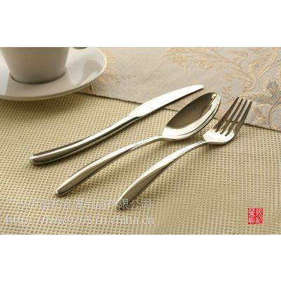 纯钢无磁不锈钢刀叉勺 意大利新款 主餐刀叉勺