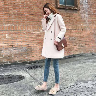 2018云南西双版纳毛呢外套女装中长款秋冬新款韩版潮时尚气质妮子呢子外套批发