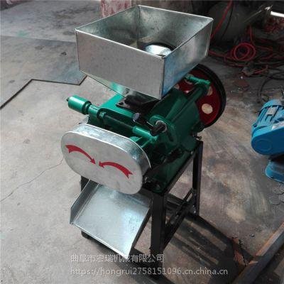 小型压扁机,杂粮挤扁机宏瑞专业生产挤扁机