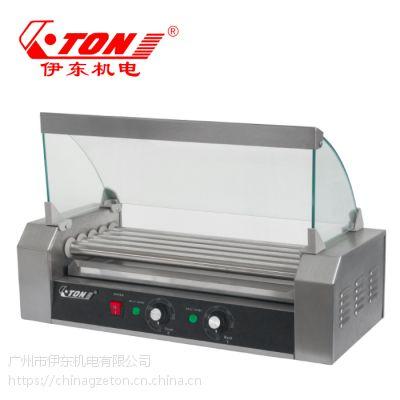 伊东厂家 五棍香肠机 台湾热狗机商用豪华烤肠机器 火腿肠机不锈钢连罩