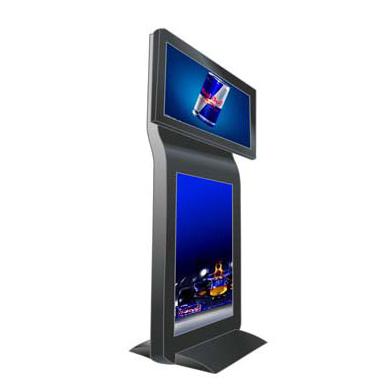中创联合双屏定制广告机 高铁站32寸立式液晶广告机 地铁站双屏显示查询机