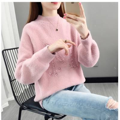 便宜女装羊毛衫 时尚韩版针织毛衣厂家 摆地摊货源批发
