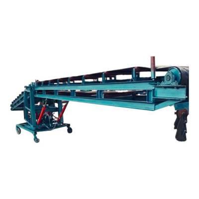 大型带式输送机设备 V型防滑皮带机结构 运货卸货皮带机
