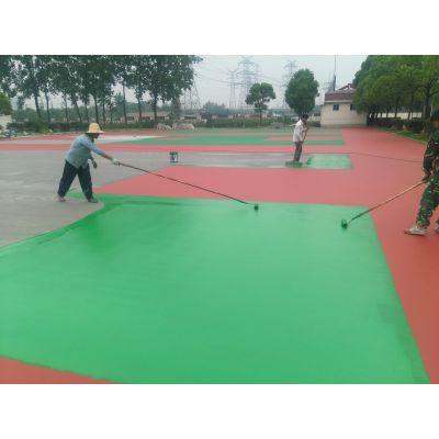 2018年广西钦州篮球场翻新施工 塑胶篮球场无毒环保耐用选飞跃体育