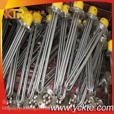 304加厚不锈钢加热管 水箱油箱电锅炉发热管电热棒 法兰盘电热管