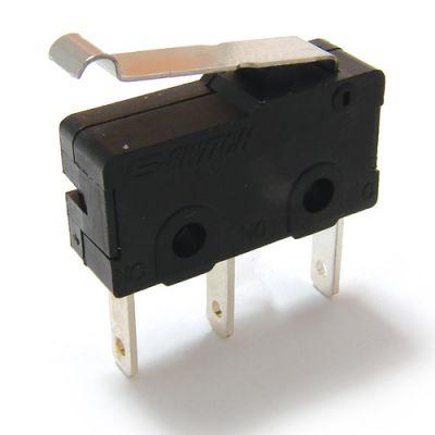 新能源电动车汽车门锁微动开关 小型行程按压式带柄3脚微动开关