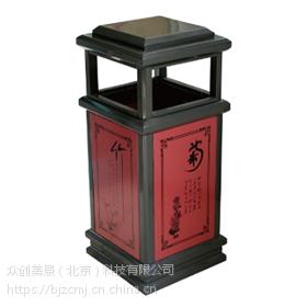户外环卫垃圾桶批发,塑木分类果皮箱 众创美景桶业