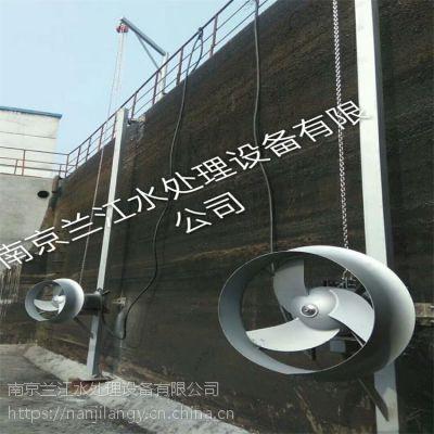 南京兰江污泥池潜水搅拌机QJB1.5/8-400安装示意图