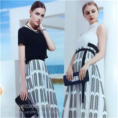 供应新款组合包 多种面料款式 简约风格,1%以下 不挑码 例格夏装 品牌女装批发货源