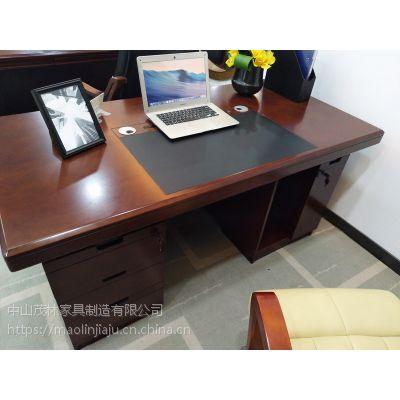 中山茂林办公家具 油漆贴木皮办公桌 ML-1617电脑桌电脑台